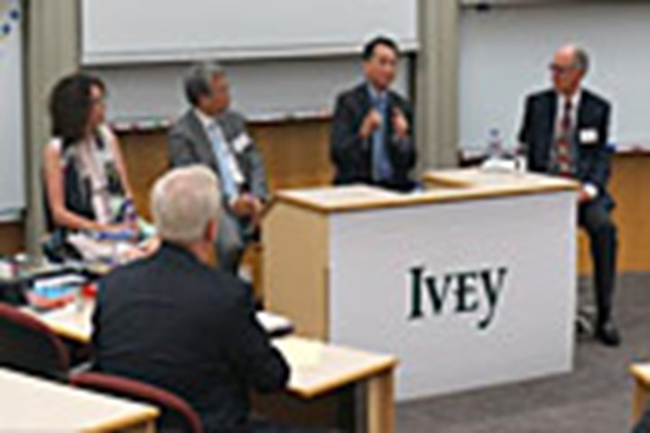 Sharing China's New Normal – Internationalization, Policy & Economic Outlook by a panel of Ivey Professors and Jason Yeung