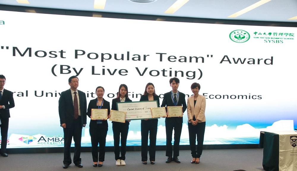 Most Popular Team Award went to Central University of Finance and Economics.